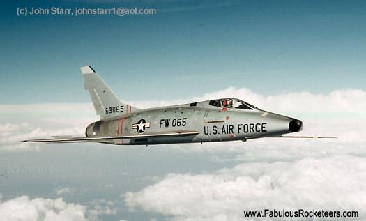 North American F-100 Super Sabre fighter jet, vintage in ...